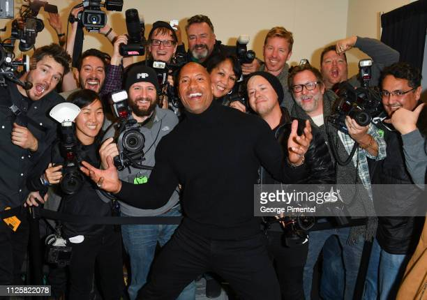 Dwayne Johnson attends the surprise screening of 'Fighting With My Family' during the 2019 Sundance Film Festival at The Ray on January 28 2019 in...