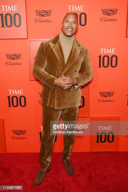 Dwayne Johnson attends the TIME 100 Gala Red Carpet at Jazz at Lincoln Center on April 23 2019 in New York City