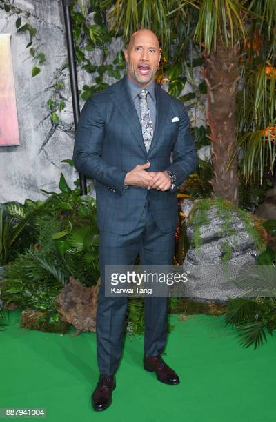 Dwayne Johnson attends the UK premiere of 'Jumanji Welcome To The Jungle' at Vue West End on December 7 2017 in London England
