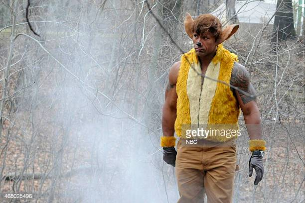 LIVE Dwayne Johnson Episode 1678 Pictured Dwayne Johnson as Bambi during the New Disney Movie skit on March 28 2015