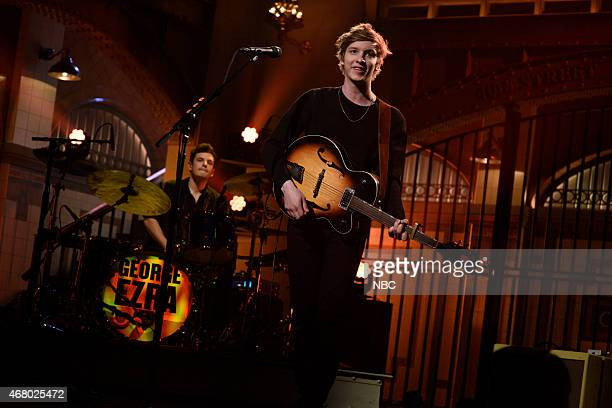 LIVE Dwayne Johnson Episode 1678 Pictured Musical guest George Ezra performs on March 28 2015