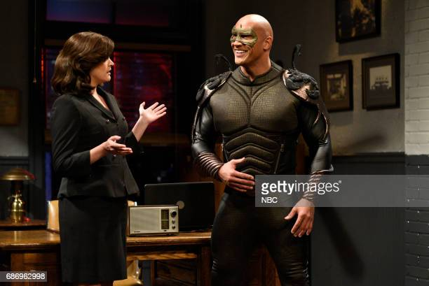 LIVE 'Dwayne Johnson' Episode 1725 Pictured Cecily Strong as Linda Dwayne Johnson as Steve/Scorpio during 'Scorpio' in Studio 8H on May 20 2017