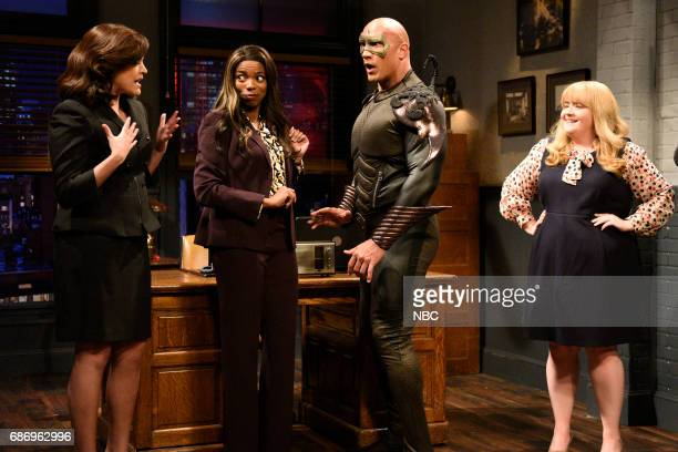 LIVE 'Dwayne Johnson' Episode 1725 Pictured Cecily Strong Sasheer Zamata Dwayne Johnson as Steve/Scorpio Aidy Bryant during 'Scorpio' in Studio 8H on...