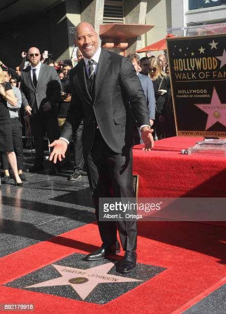 Dwayne Johnson Honored With Star On The Hollywood Walk Of Fame held on December 13 2017 in Hollywood California