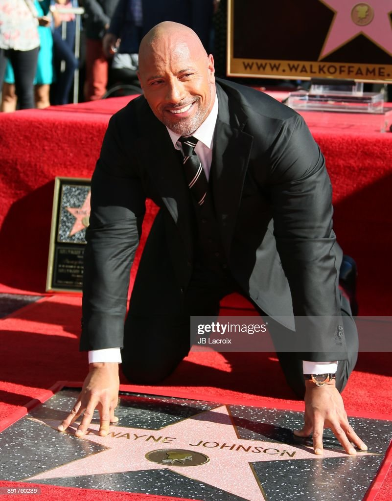 Dwayne Johnson Honored With Star On The Hollywood Walk Of Fame