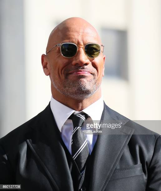 Dwayne Johnson is honored with Star On The Hollywood Walk Of Fame on December 13 2017 in Los Angeles California