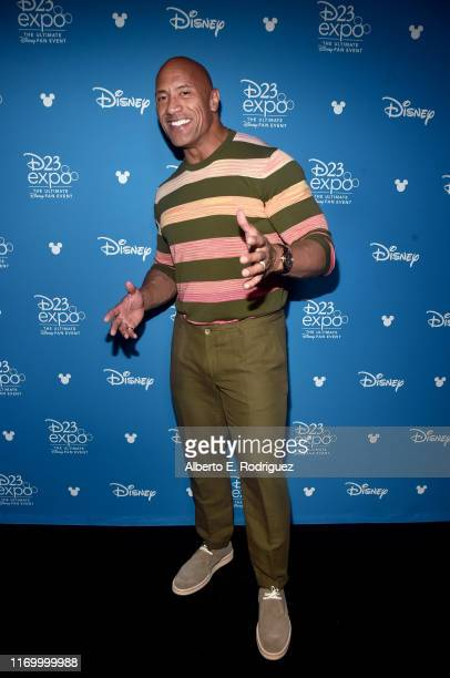 Dwayne Johnson of 'Jungle Cruise' took part today in the Walt Disney Studios presentation at Disney's D23 EXPO 2019 in Anaheim, Calif. 'Jungle...