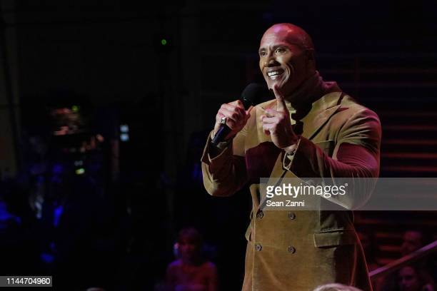 Dwayne Johnson speaks onstage at the Time 100 Gala 2019 at Jazz at Lincoln Center on April 23, 2019 in New York City.