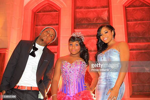 Dwayne 'Lil Wayne' Carter Reginae Carter and Antonia Wright attend Reginae Carter's 13th Birthday party at The Callanwolde Mansion on November 19...