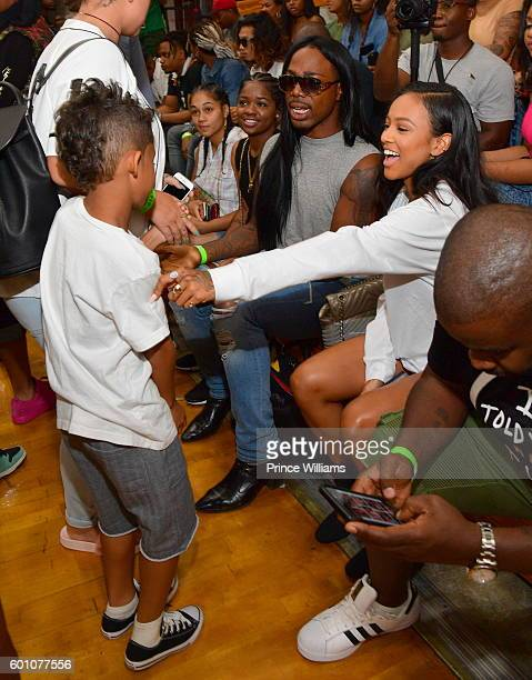 Dwayne Michael Carter III and Karrueche Tran attend LudaDay Weekend Celebrity Basketball Game at Morehouse College Forbes Arena on September 4 2016...