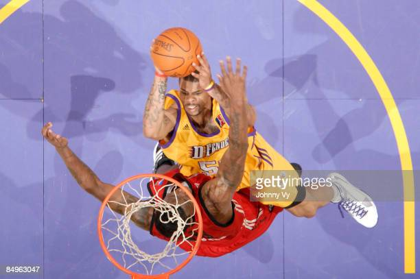 Dwayne Mitchell of the Los Angeles DFenders puts up a shot against the Rio Grande Valley Vipers at Staples Center on February 20 2009 in Los Angeles...