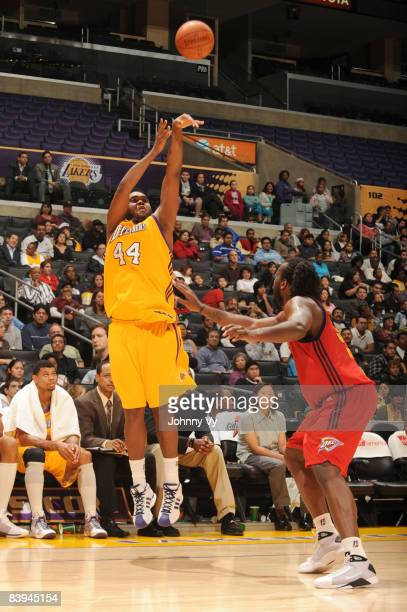 Dwayne Mitchell of the Los Angeles DFenders shoots during the game against the Tulsa 66ers at Staples Center on December 7 2008 in Los Angeles...