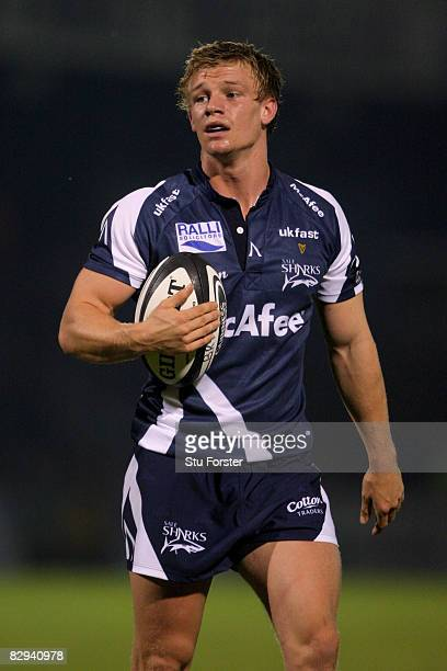 Dwayne Peel of Sale looks on during the Guinness Premiership match between Bristol Rugby and Sale Sharks at Memorial Stadium on September 19 2008 in...