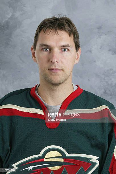 Dwayne Roloson of the Minnesota Wild poses for a portrait on September 15 2003 at the Xcel Energy Center in Saint Paul Minnesota