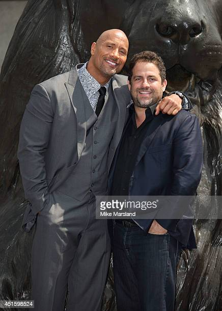 Dwayne 'The Rock' Johnson and Brett Ratner attend a photocall for 'Hercules' on July 2 2014 in London England