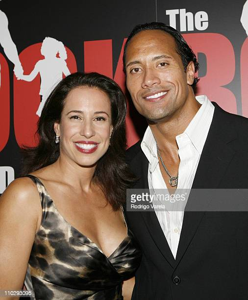 Dwayne 'The Rock' Johnson and Dany Johnson during GMC Presents Gridiron After Party Benefiting The Rock Foundation at AMC Theatre/The Shops at Sunset...