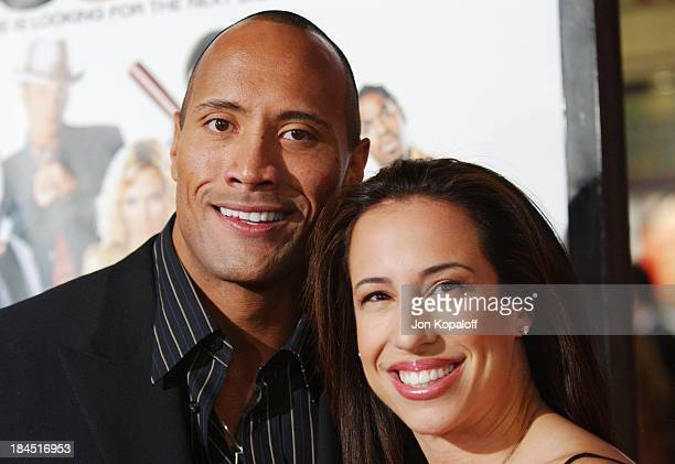 Dwayne 'The Rock' Johnson and wife Dany Johnson during Be Cool Los Angeles Premiere Arrivals at Grauman's Chinese Theater in Hollywood California...