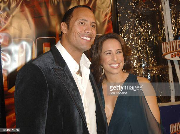Dwayne 'The Rock' Johnson and wife Dany Johnson during Doom Los Angeles Premiere Arrivals at Universal City Cinemas in Universal City California...