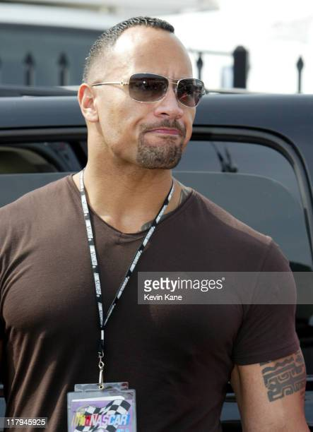 Dwayne 'The Rock' Johnson as Grand Marshall for the NASCAR Nextel Cup Samsung/Radio Shack 500 Texas Motor Speedway