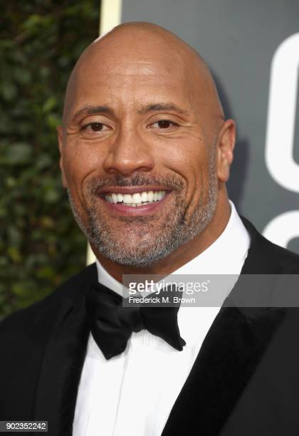 Dwayne 'The Rock' Johnson attends The 75th Annual Golden Globe Awards at The Beverly Hilton Hotel on January 7 2018 in Beverly Hills California