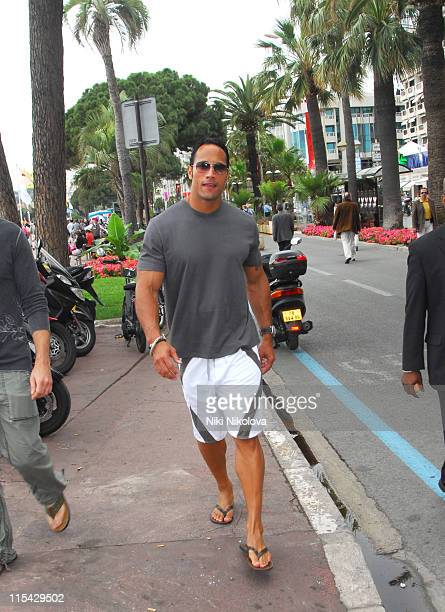 Dwayne The Rock Johnson during 2006 Cannes Film Festival Seen Around Cannes Day 8 at Cannes in Cannes France