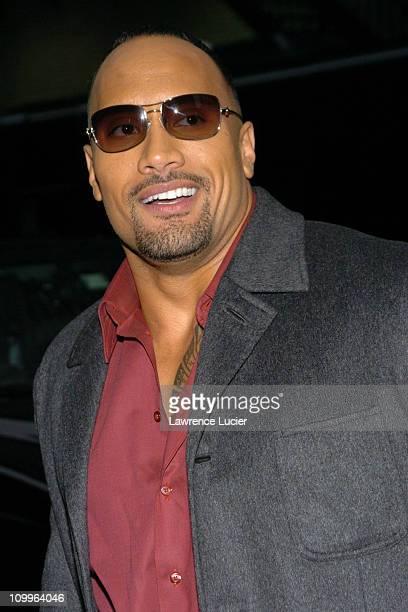 Dwayne The Rock Johnson during Dwayne The Rock Johnson Appears Outside The Late Show With David Letterman - April 1, 2004 at Ed Sullivan Theater in...