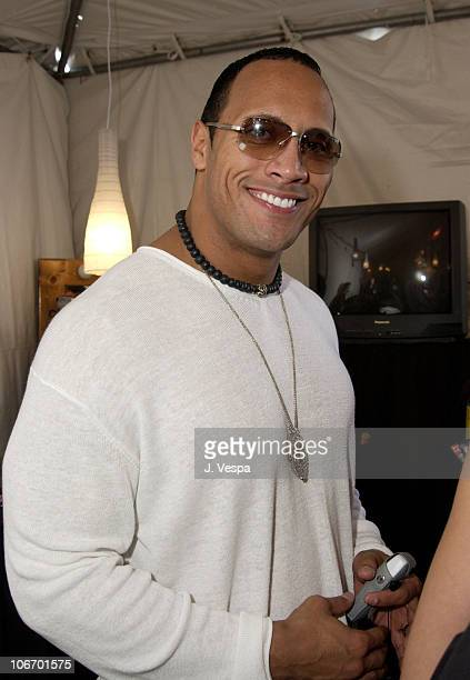 Dwayne The Rock Johnson during Nickelodeon's 15th Annual Kids Choice Awards Backstage Creations Talent Retreat Day 2 at Barker Hangar in Santa Monica...