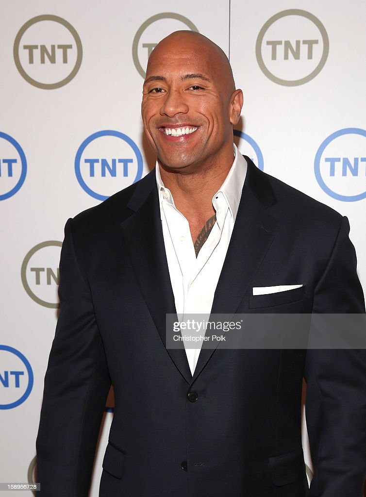 Dwayne 'The Rock' Johnson, Host of 'The Hero', attends Turner Broadcasting's 2013 TCA Winter Tour at Langham Hotel on January 4, 2013 in Pasadena, California. 23128_001_CP_0423.JPG