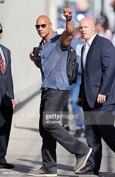 Dwayne 'The Rock' Johnson is seen on April 1 2015 in Los Angeles California