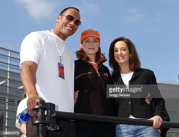 Dwayne The Rock Johnson Marcia Cross and Lilly Tartikoff