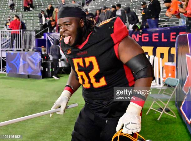Dwayne Wallace of the LA Wildcats after playing the Tampa Bay Vipers at Dignity Health Sports Park during an XFL game on March 8 2020 in Carson...