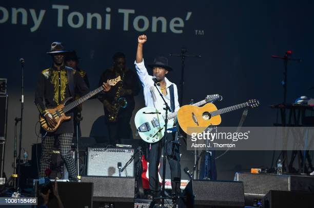 Dwayne Wiggins of the singing group Tony Toni Tone perform on stage at The Soundboard Motor City Casino on July 26 2018 in Detroit Michigan