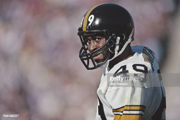 Dwayne Woodruff Defensive Back for the Pittsburgh Steelers during the American Football Conference West game against the Los Angeles Raiders on 16...