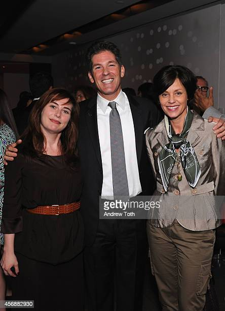 Dwell Editor in Chief Amanda Dameron President of AKA Larry Korman and Executive Vice President at Volvo Cars of North America Bodil Eriksson attend...