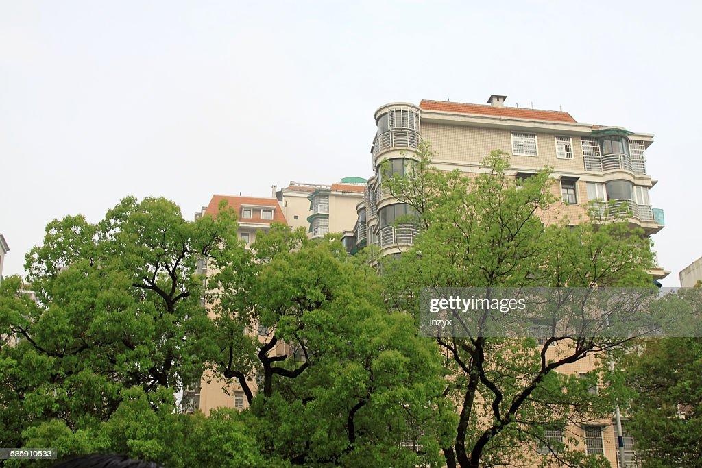 Arquitetura de edifício dweller Paisagem : Foto de stock