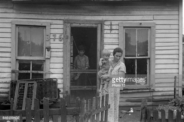 Dweller in Circleville's 'Hooverville' central Ohio 1938 Summer