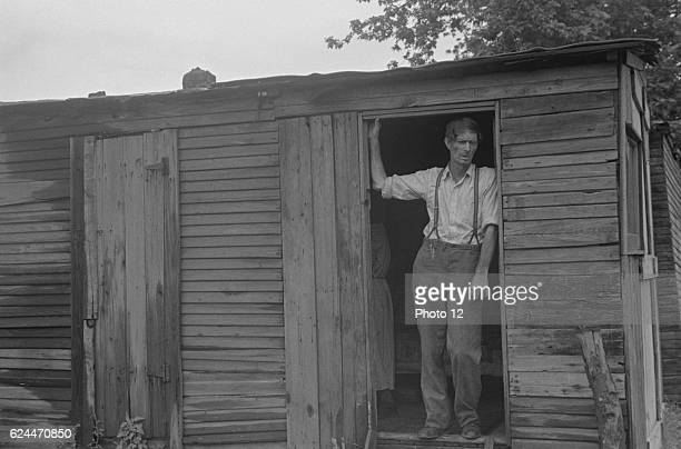 Dwellers in Circleville's 'Hooverville' central Ohio 1938 Summer