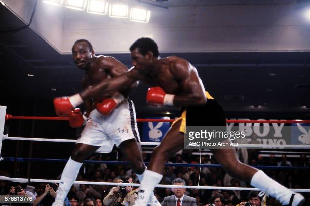 Dwight Braxton Matthew Saad Muhammad boxing at Playboy Hotel and Casino March 19 1981