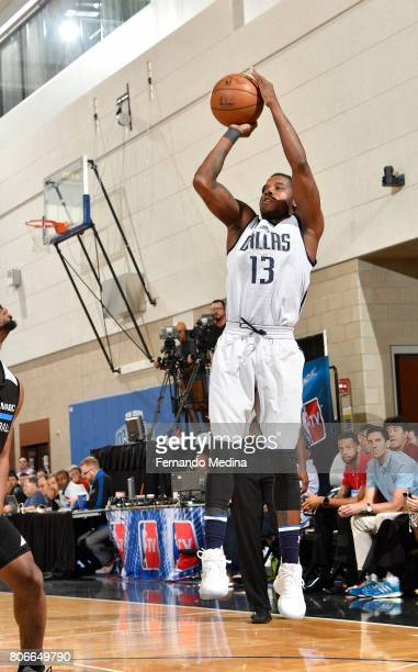 Dwight Buycks of the Dallas Mavericks shoots the ball against the Orlando Magic on July 3 2017 during the 2017 Summer League at Amway Center in...