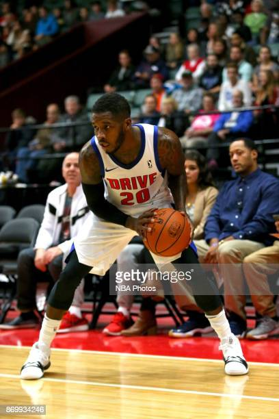 Dwight Buycks of the Grand Rapid Drive handles the ball against the Erie Bayhawks on November 3 2017 at DeltaPlex Arena in Grand Rapids MI NOTE TO...