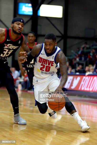 Dwight Buycks of the Grand Rapids Drive shoots the ball against the Erie Bayhawks on November 3 2017 at DeltaPlex Arena in Grand Rapids MI NOTE TO...
