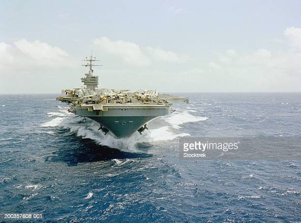 uss dwight d. eisenhower aircraft carrier - military ship stock pictures, royalty-free photos & images