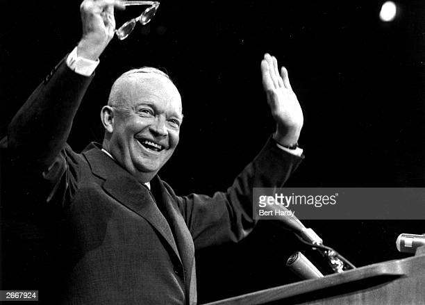 Dwight D Eisenhower American General and 34th President of the United States on his reelection as president Original Publication Picture Post 8718...