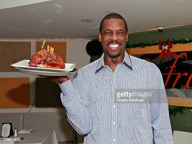 Dwight 'Doc' Gooden former Yankees and Mets baseball player appears as a guest server at Sofrito on December 14 2010 in New York City