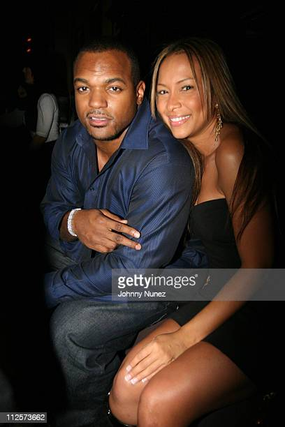 Dwight Freeney and Valeshia Butterfield attend the Birthday Celebration for Dwight Freeney of the Indianapolis Colts at The Plumm February 19 2008...