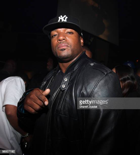 Dwight Freeney visits M2 Ultra Lounge on April 16, 2010 in New York City.