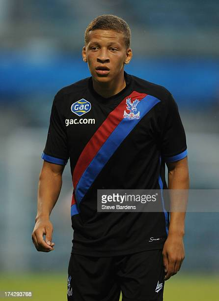 Dwight Gayle of Crystal Palace during the pre season friendly match between Gillingham and Crystal Palace at Priestfield Stadium on July 23 2013 in...