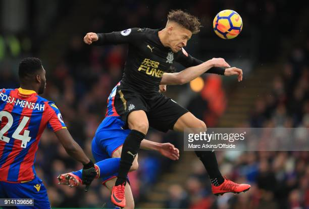 Dwight Gayle of Newcastle United during the Premier League match between Crystal Palace and Newcastle United at Selhurst Park on February 4 2018 in...