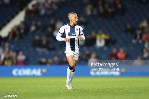 Dwight Gayle of West Bromwich Albion during the Carabao Cup Second Round match between West Bromwich Albion and Mansfield Town at The Hawthorns on...