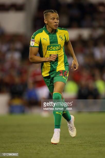 Dwight Gayle of West Bromwich Albion during the Sky Bet Championship match between Nottingham Forest v West Bromwich Albion at City Ground on August...